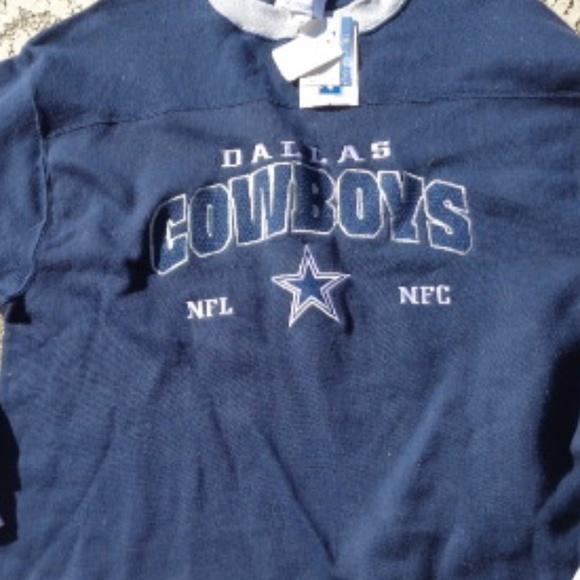 NWT Dallas Cowboys NFL Long Sleeve Men/'s Size LARGE Shirt Henley Tee Blue NEW